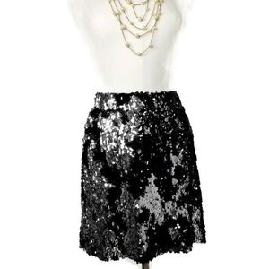 NWOT Calvin Klein Sequin Skirt Elastic Waistband